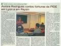 Aurora Rodrigues raconte les tortures de la PIDE sous la dictature de Salazar - Avril 2012