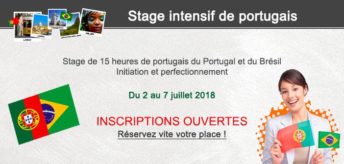 Stage intensif de portugais session 2018