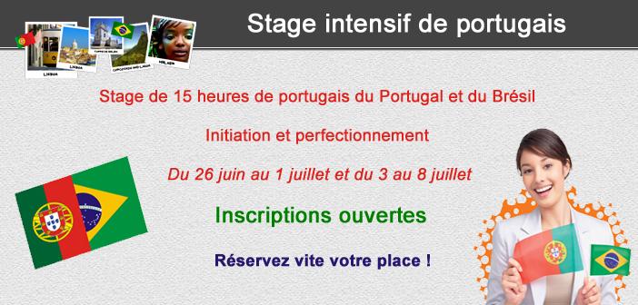 Stage intensif de portugais 2017