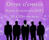 Offre d'emploi : agent d'entretien (H/F)