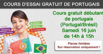 Cours gratuit portugais débutant Portugal Brésil le 16-06-2018
