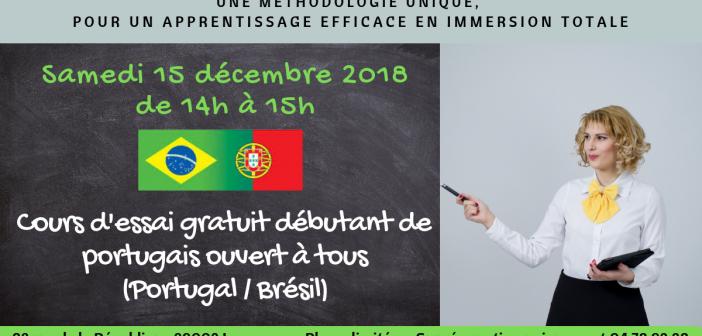 Cours d'essai gratuit en portugais débutant pour les adultes