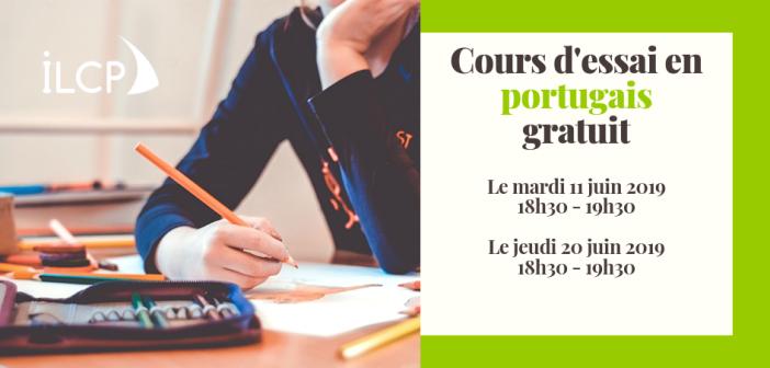 Cours d'essai gratuit en portugais débutant le mardi 11 juin 2019 et le jeudi 20 juin 2019