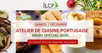 vissuel atelier de cuisine portugaise - menu de Noël par l'ILCP