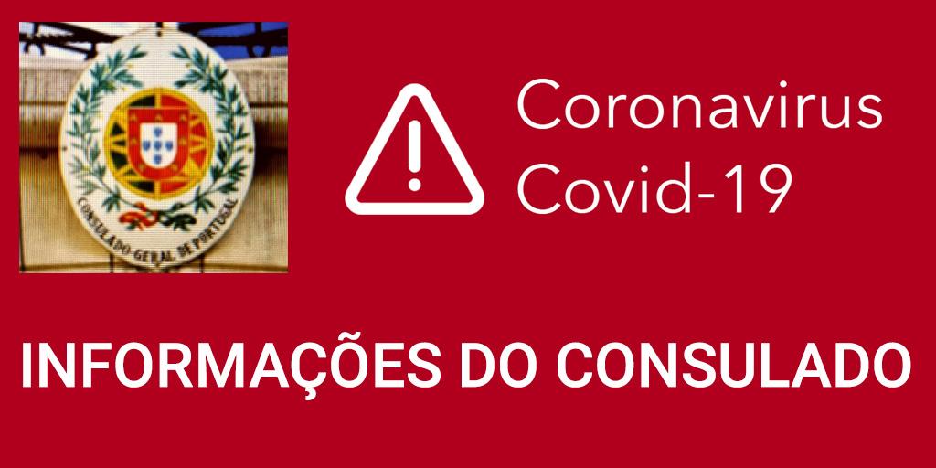 informations du consulat du Portugal sur le covid-19